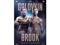 2x Kell Brook vs GGG tickets