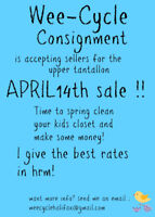 Wee- Cycle Consignment SALE!   Fun, Busy and BARGAINS!