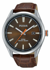 Brand New Pulsar Mens Sport Watch - Silver/Brown - Save $83!!