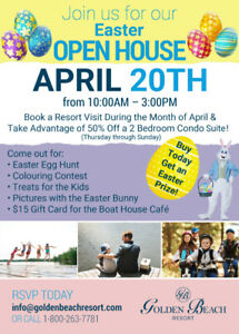 Come Spend Easter at Golden Beach Resort!