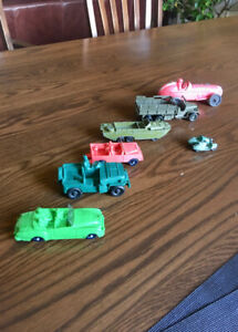 Lot Vintage Toy Vehicles Dinky Auburn Lesney Tomte