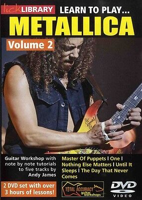 Lick Library LEARN TO PLAY METALLICA Vol 2 Guitar Lessons Video DVD Kirk Hammett