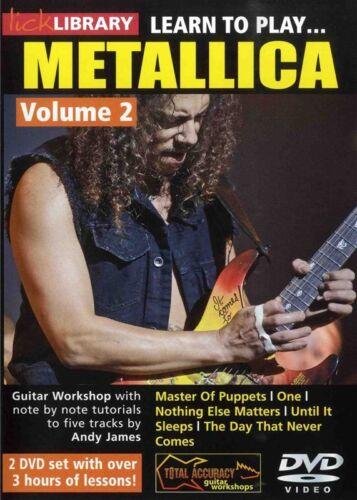 Lick Library LEARN TO PLAY METALLICA Vol 2 Guitar Lessons Video DVD Kirk Hammett