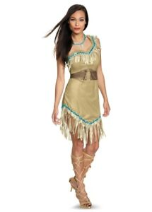 HALLOWEEN COSTUME! WORN ONCE! Pocahontas complete with necklace!