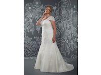 Stunning Rum Pink Wedding Dress. Size 26 (18-20 in regular clothes size)