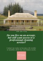 ACCEPTING ACREAGE HOME CLEANING CLIENTS