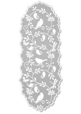 "Heritage Lace  BRISTOL GARDEN White Table Runner 14"" X 36"""