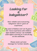 Need a babysitter over the holidays ?