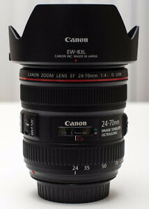 Canon EF 24-70mm F/4L IS USM MACRO Lens L Zoom Like New F/4