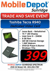 TRADE AND SAVE SALE - TOSHIBA TECRA R940 I5 / DEDICATED GRAPHICS