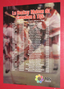 1996 / 1997 MONTREAL CANADIENS HOCKEY SCHEDULE + McDONALD'S AD