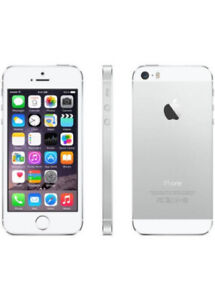 Unlocked iPhone 5S, 16 GB, silver, with case, in Mint Condition