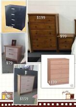 Brand new tallboys and bedsides for sale from $79 Westmead Parramatta Area Preview