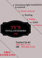 SNOW SHOVELING  TY'S TOTAL EXTERIORS LTD.