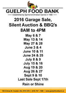 Guelph Food Bank Gigantic Garage Sales and Silent Auctions