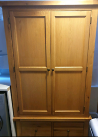 Solid Oak wardrobe , 2 door