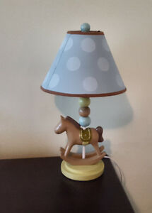 Lamp and diaper stacker by Kidsline