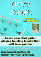 GUITAR LESSONS for Beginner & Intermediate learners
