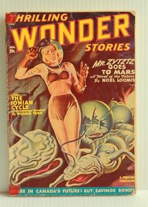"""""""THRILLING WONDER STORIES,"""" A PULP SCIENCE FICTION 1948"""