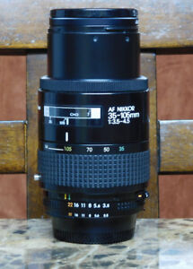 AF Nikkor 35-105mm  1:3.5-4.5 lens