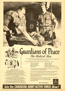 Large 1952 full-page ad for Royal Canadian Army Medical Corps
