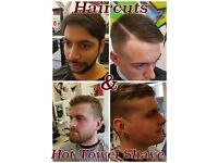 FREE GENTS HAIRCUT or HOT TOWEL SHAVE
