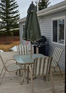 Patio Table & Umbrella