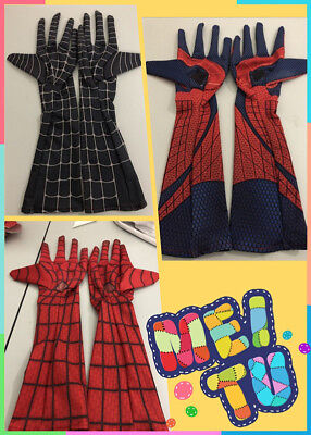 Stunning Amazing Spider-Man Elbow-length Gloves Cosplay Costume Halloween Props