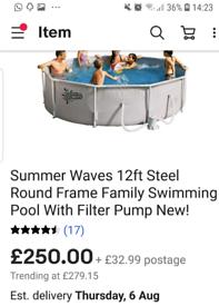 12ft garden pool