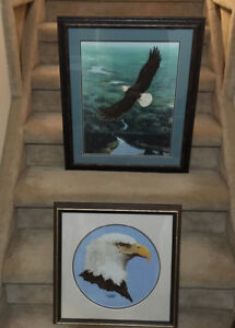 PAIR OF EAGLES FRAMED/ ONE PRICE