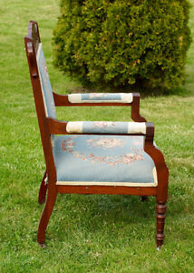 ANTIQUE CARVED WALNUT EASTLAKE PARLOUR ARM CHAIR - NEW PRICE Kingston Kingston Area image 2