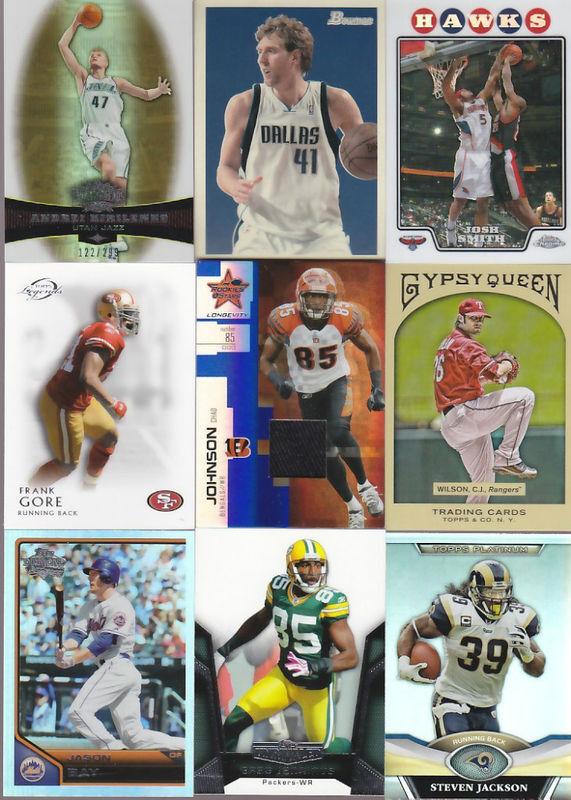 Huge Sports Card Collection Basketball Football Baseball  Rookie Jersey Lot