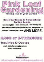 Pink leaf Gardening and lawn care