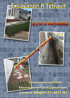 Mini excavation, terrassement, paysagement