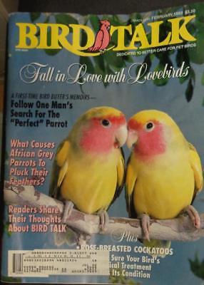*BIRD TALK MAGAZINE Feb 93 Lovebird African Grey Parrot Feather Plucking Picking