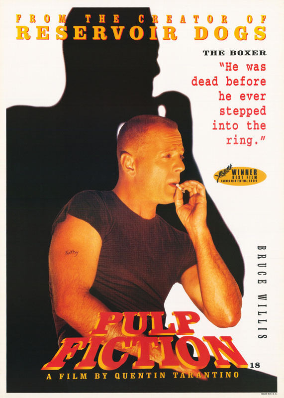 POSTER:MOVIE REPRO: PULP FICTION - THE BOXER - BRUCE WILLIS -FREE SHIP!  LW6 D