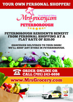 Personal shopping and delivery in Peterborough area