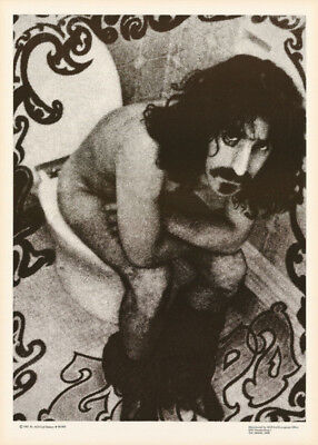 POSTER :MUSIC : FRANK ZAPPA - ON THE CRAPPA - 1981 FREE SHIPPING ! #B1069  LW6 G