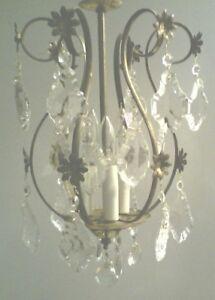 Vintage Crystal Chandelier Pendant