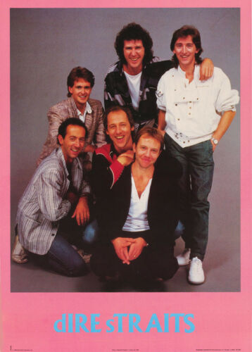 POSTER : MUSIC : DIRE STRAITS  - ALL 6 POSED - FREE SHIP !  #15-382  RAP29 A