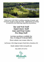 Full-Time & Part-Time Server, Bartenders and Supervisors Wanted