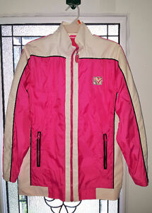 PINK AND WHITE SPRING/FALL JACKET GIRLS SIZE 16-LARGE