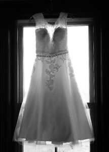 Wedding dress and Bridal shoes