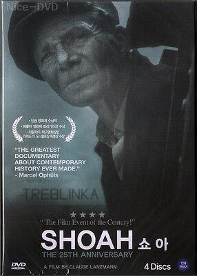 SHOAH (1985) 4-DVD Disc BOX SET!! (New-SEALED) Claude Lanzman