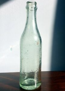 E.L. DREWRY BEER BOTTLE ~ GREEN TINTED GLASS ~ LATE 1800's