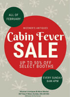 Antiques Cabin Fever Sale