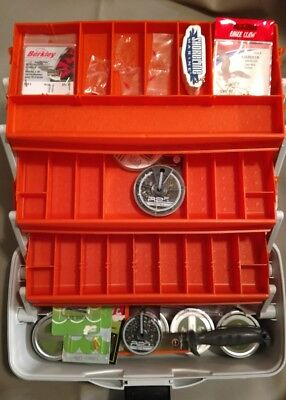 Summer Fishing Package - Tackle Box, grubs, filet knife, hooks, weights more ()