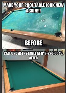 MAKE YOUR POOL TABLE LOOK NEW BY GETTING A NEW FELT