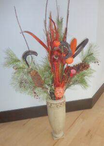 Stunning Christmas arrangement in antique looking vase