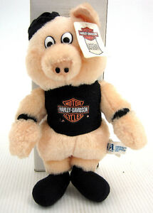Harley Davidson Plush Hog Pig Stuffed Animal 90s 1991 Motorcycle
